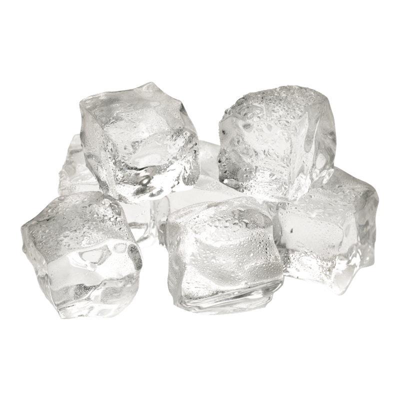 Cluster of ice cubes