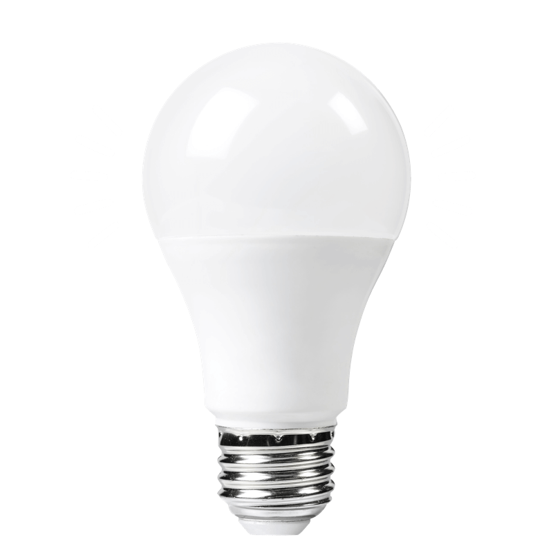 Lightbulb with white lines radiating outwards